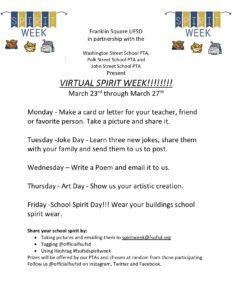 Virtual Spirit Week FSUFSD1